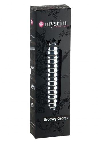 Kovové dildo Groovey George (elektrosex)