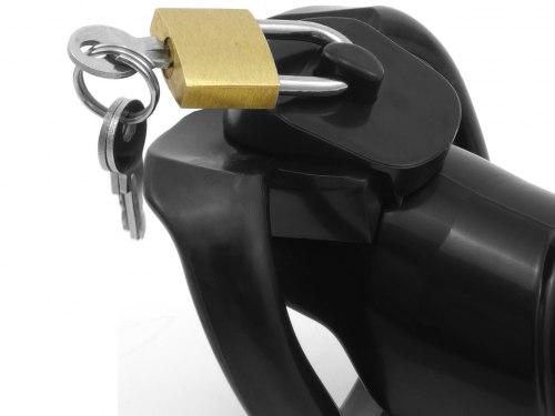 Pás cudnosti pro muže - klícka na penis, plastová (černá)
