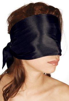 Saténový šátek na oči Bad Kitty, černý – Masky, kukly a šátky