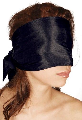 Saténový šátek na oči Bad Kitty, černý