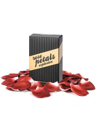 Romantické okvětní lístky růží