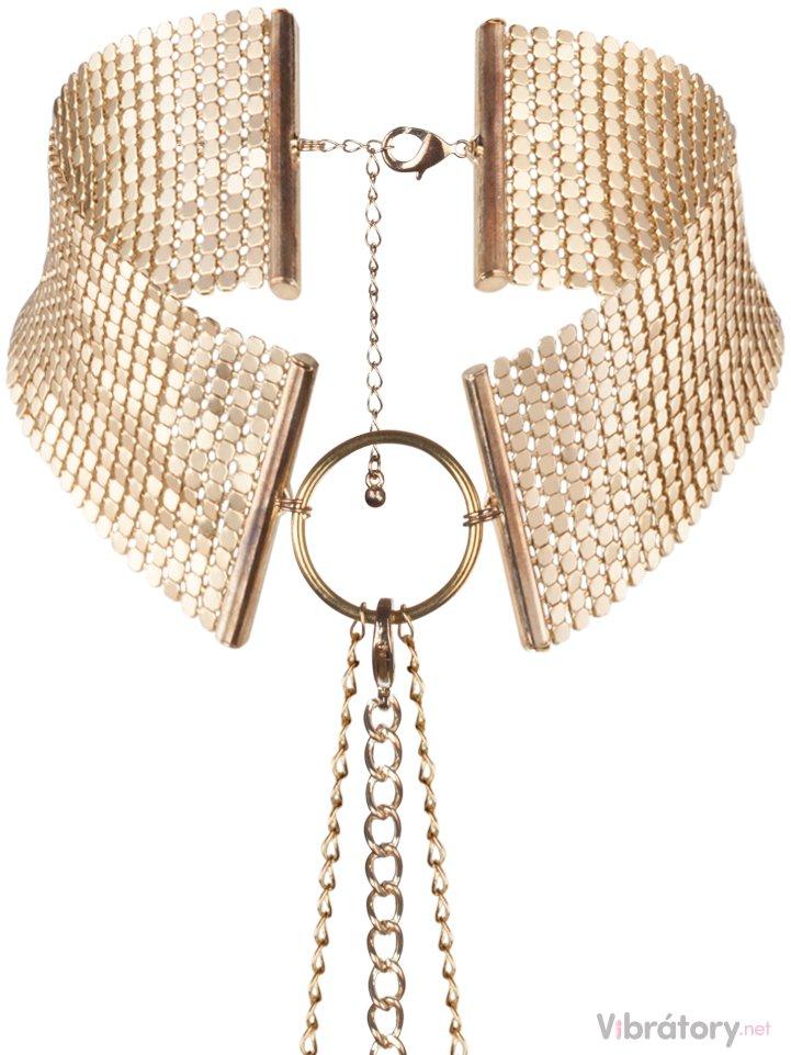 Bijoux Indiscrets Bijoux Indiscrets Obojek - náhrdelník Désir Métallique Gold, zlatý