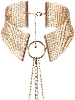 Obojek - náhrdelník Désir Métallique, zlatý – Úžasné ozdoby na krk, náhrdelníky a ozdobné obojky