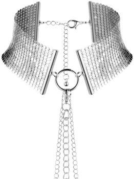 Obojek - náhrdelník Désir Métallique, stříbrný – Úžasné ozdoby na krk, náhrdelníky a ozdobné obojky