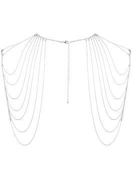Ozdoba na ramena Magnifique, stříbrná – Vzrušující intimní šperky, ozdoby a bižuterie