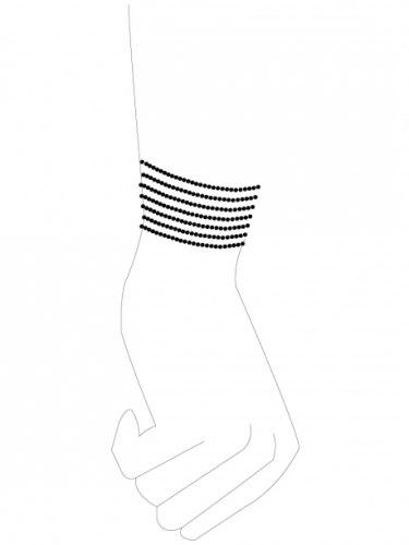 Pouta - náramky Magnifique, stříbrná