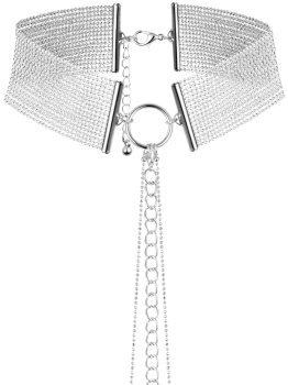 Obojek - náhrdelník Magnifique, stříbrný – Úžasné ozdoby na krk, náhrdelníky a ozdobné obojky