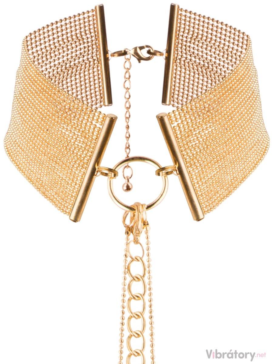 Bijoux Indiscrets Obojek - náhrdelník Magnifique Gold, zlatý