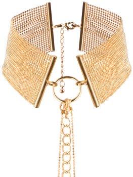 Obojek - náhrdelník Magnifique, zlatý – Úžasné ozdoby na krk, náhrdelníky a ozdobné obojky