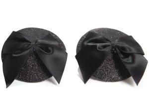 Ozdoby na bradavky Burlesque Bow – Vzrušující nálepky na bradavky