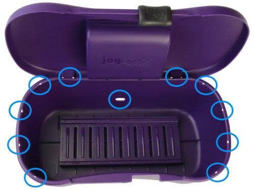 Hygienický kufřík na pomůcky Joyboxx, fialový