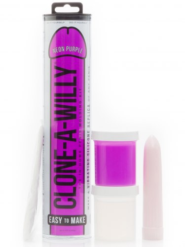 Odlitek penisu Clone-A-Willy Neon Purple - vibrátor