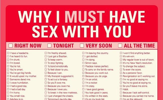 Pořád nevíš, proč mít sex? Mrkni na tenhle poctivý seznam.