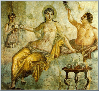 Obraz ze zdi starověkého bordelu