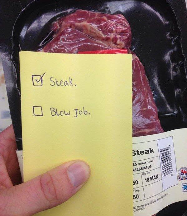 Den steaků a orálního sexu