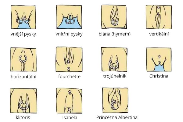 Přehled základních typů dámského piercingu