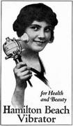Reklama na první sériově vyráběný vibrátor