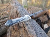 kondom chrání hlaveň pušky před znečištěním