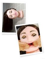 Gumová bruneta s mrkacíma očima má precizně zvarovaný ústní otvor.