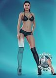 Ukázka grafiky virtuální erotické hry od Sinful Robots