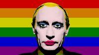 Jedna z mnoha karikatur ruského prezidenta si bere na paškál homofóbní opatření v jeho zemi.