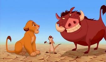 Simba, Timon a Pumba z Lvího krále patří mezi nejznámější a nejoblíbenější antropomorfní zvířecí postavy