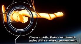 Takhle si nafukovací panna Missy plula kosmem rychlostí 160 km/h