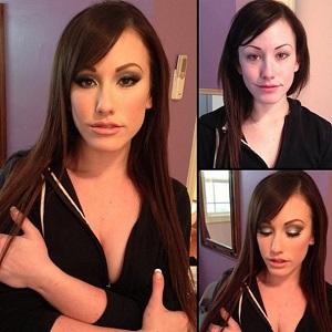 Pohled na pornoherečky před a po nalíčení odhaluje, že bez péče o vzhled to nepůjde