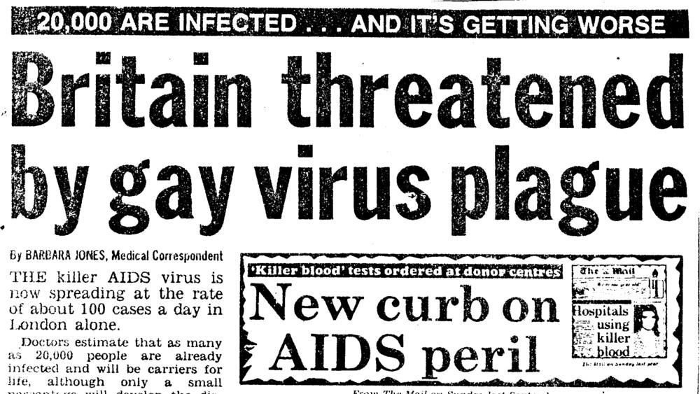 Tisk, inforumující o AIDS (1984)