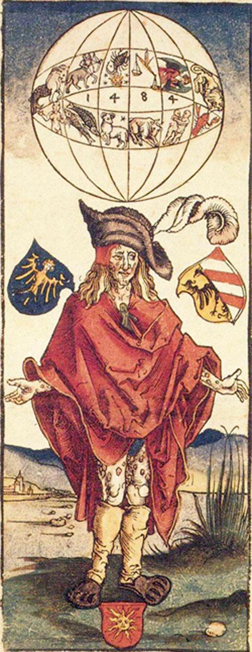 Historické vyobrazení osoby postižené syfilitidou