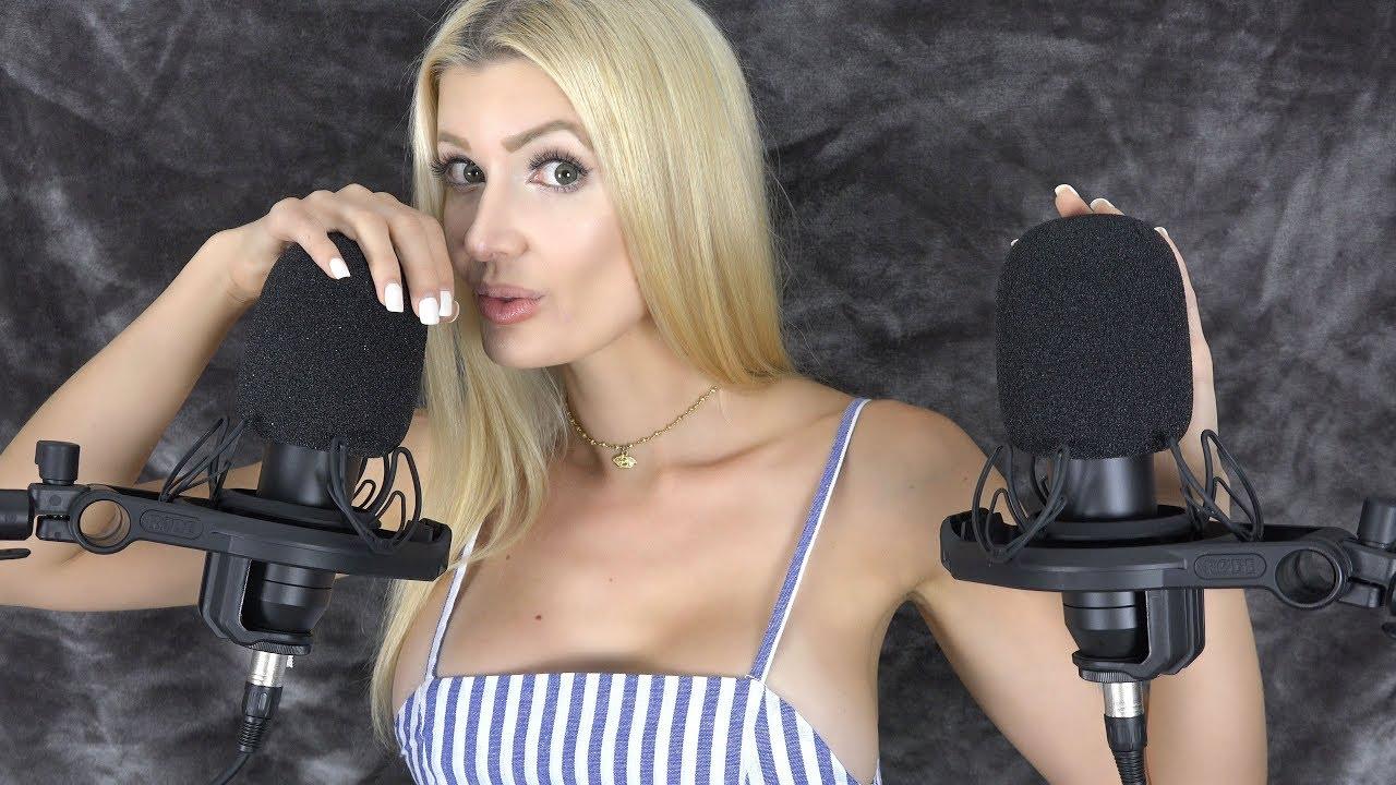 ASMR dívka s mikrofony