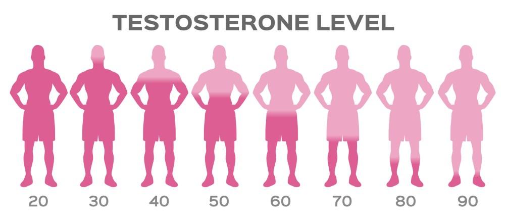 pokles hladiny testosteronu v mužském těle