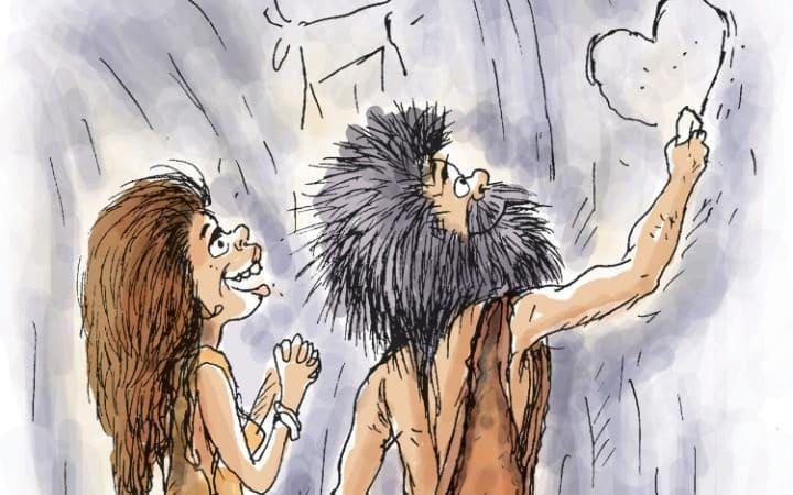 prehistorický pár